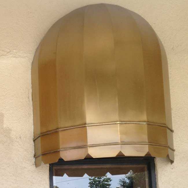 copper Awning polishing